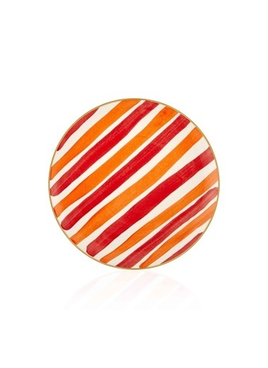 The Mia Fez Pasta Tabağı 6lı Set - 19cm Kırmızı Kırmızı